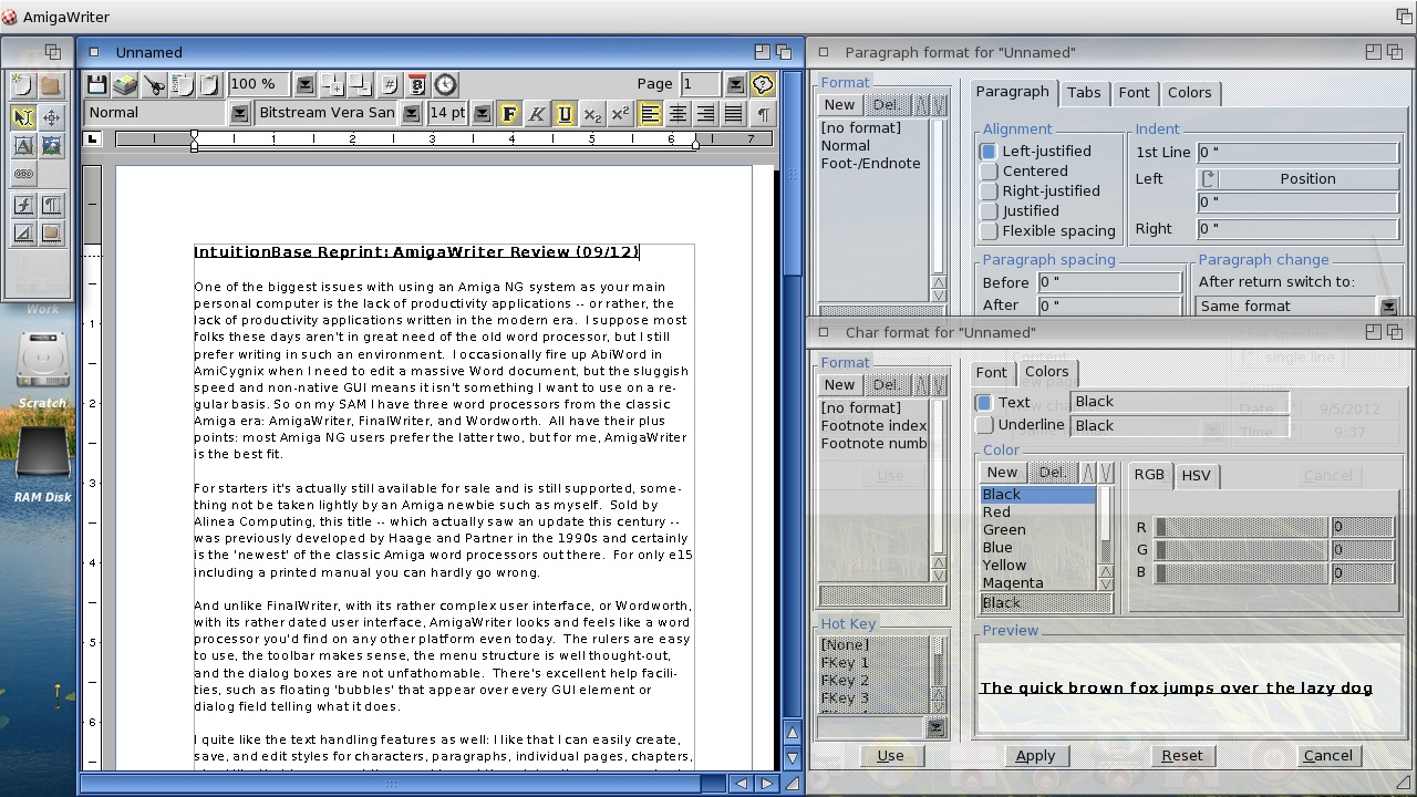 AmigaWriter Screenshot